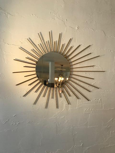 sunburst wall mirror/50's france
