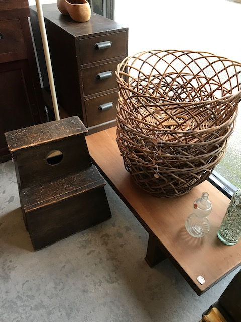 old wicker baskets/60's japan