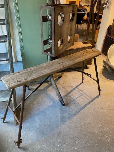 vintage folding legged table