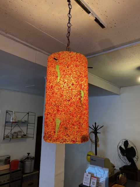 funky resin pendant lamp/ USA 1960's