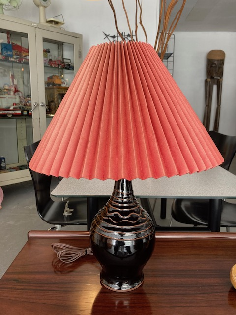 Le Klint style paper shade table stand lamp