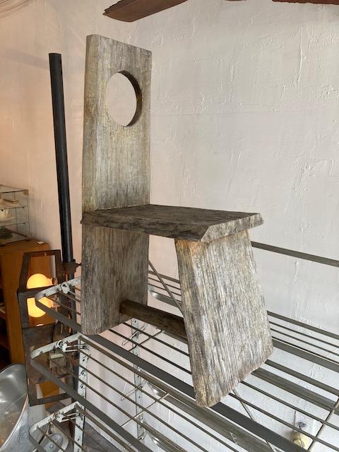 old wooden folk art chair