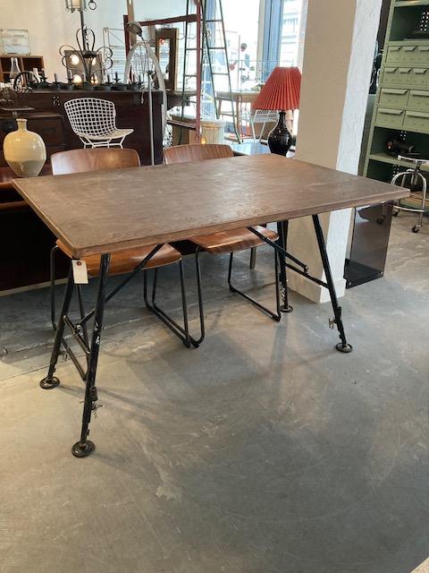 iron legged dining table