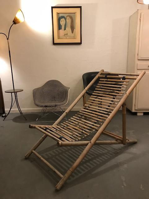 竹の安楽椅子・デッキチェア/1970年代頃