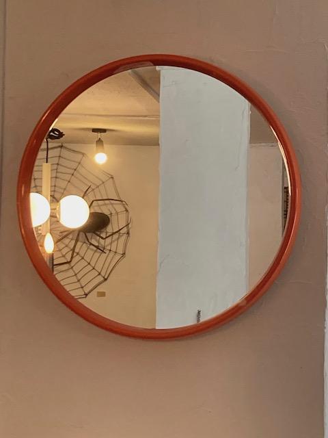 spaceage Western Germany plastic wall mirror