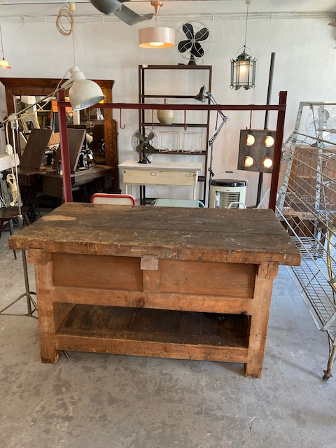 1950's wooden work table