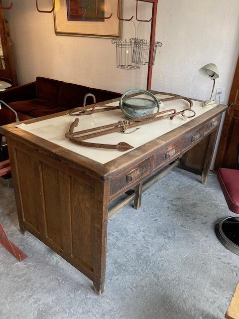 wooden work desk