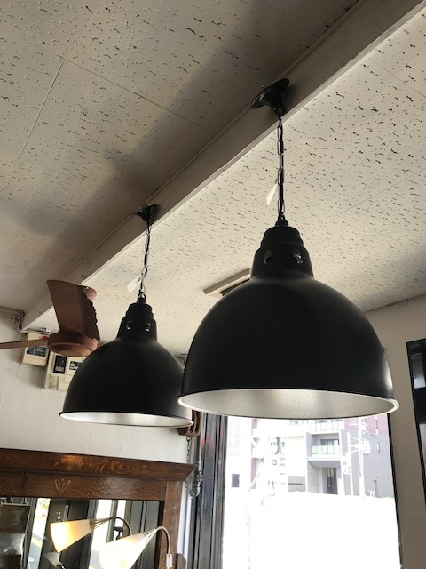 industrial black aluminum shade lamps