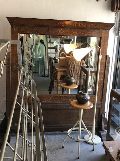 Japanese oak artdeco mirror.jpg