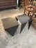 metal side tables/set of two