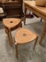 wooden tripod legged stools