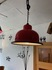 aluminum red colored pendant lamp