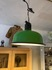aluminum green colored pendant lamp