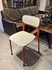 red & white prywood chair