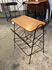 Iron side table with magazine rack/ Europe 1950's