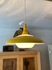 glass & yellow colored aluminum pendant lamp