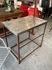 vintage metal frame working table